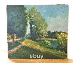 Tableau ancien, peinture /huile/ panneau de carton rigide. Postimpressionniste