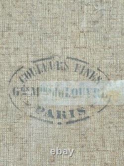 Tableau ancien signé daté gachet du musée du Louvre. Peinture huile sur toile