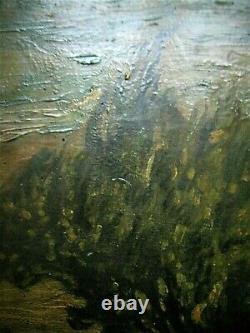Tableau fin 19e début 20e Huile sur panneau jolie peinture ancienne