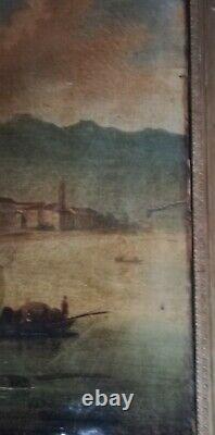 Tableau horloge musical peinture ancienne