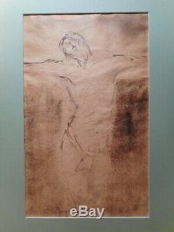 Tableau peinture Emile Henri BERNARD dessin lavis ancien esquisse Jésus Christ