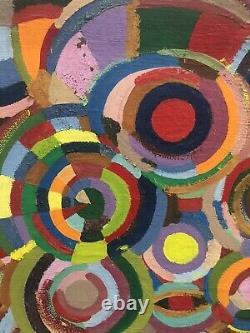 Tableau peinture ancienne asbtraite Sonia Delaunay