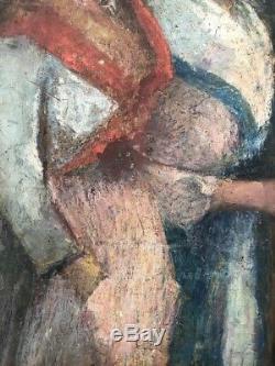 Tableau peinture ancienne bretonne, old painting Nabis
