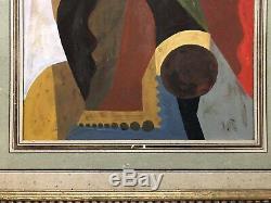 Tableau peinture ancienne cubiste début XXe