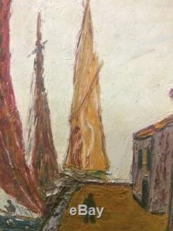 Tableau peinture ancienne marine XXe painting