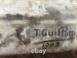 Tableau peinture ancienne nature morte à léventail still life 1942