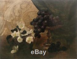 Tableau peinture ancienne nature morte anglaise XIXe still life