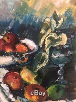 Tableau peinture ancienne nature morte still life XXe