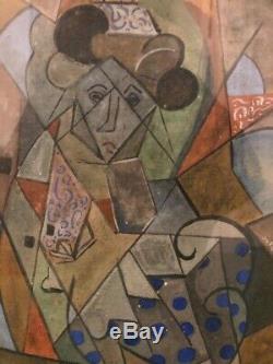 Tableau peinture cubiste, très belle qualité, ancien