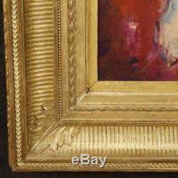Tableau peinture français nu féminin signé cadre style ancien huile panneau 900