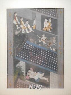 Tableau peinture indienne ancienne kamasutra indien hindou Inde jeu erotique 2