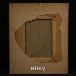 Tableau peinture paysage huile sur carton avec cadre style ancien 900