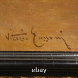Tableau peinture style ancien nature morte signé huile sur panneau cadre 900