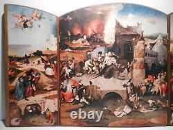 Triptyque photogravure vintage année 70 tableau ancien peinture peintre flamand