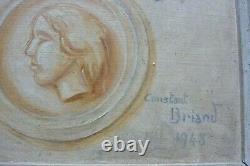 Trompe l'oeil dlg 18 ème siècle peinture ancienne tableau