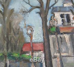 YOULARD, rue du centre à Neuilly en 1944, NEUILLY sur SEINE, TABLEAU ANCIEN, WW 2